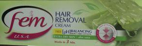 Крем для депиляции Fem Hair , АЛОЭ, Dabur + 6 пакетиков лосьона